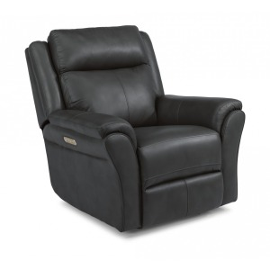 Pike Leather Power Recliner w/Power Headrests