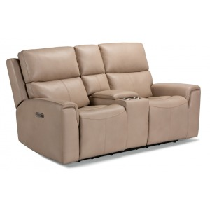 Jarvis Power Reclining Loveseat w/ Console, Power Headrests
