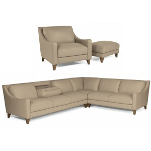 FLE 1245 Sectional,Chair,&Ottoman
