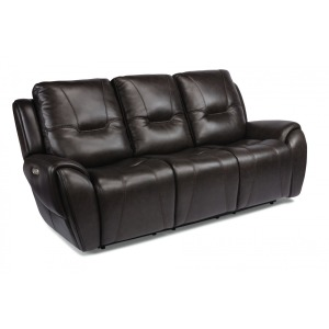 Trip Leather Power Reclining Sofa w/Power Headrests