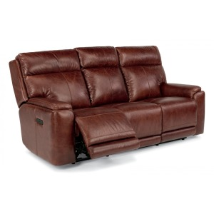 Sienna Leather Power Reclining Sofa w/Power Headrests