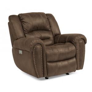 Downtown Fabric Power Recliner w/Power Headrest