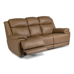 Elijah Leather Power Reclining Sofa w/Power Headrests