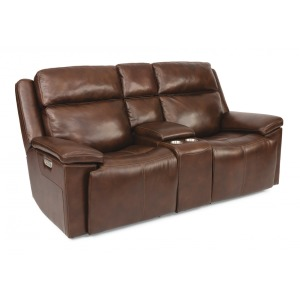 Chance Power Reclining Loveseat w/Console & Power Headrests