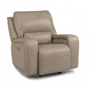 Blade Leather Power Gliding Recliner w/Power Headrests