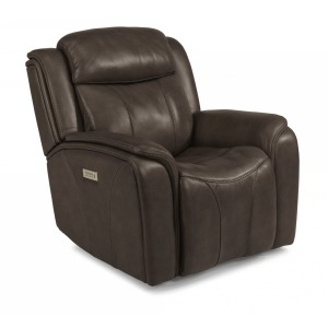 Paisley Leather Power Recliner w/Power Headrest