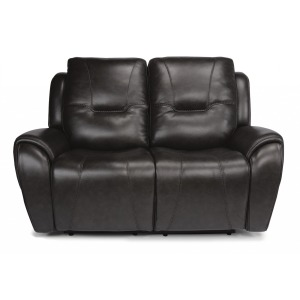 Trip Leather Power Reclining Loveseat w/Power Headrests