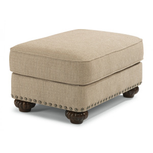 Patterson Ottoman with Nailhead Trim