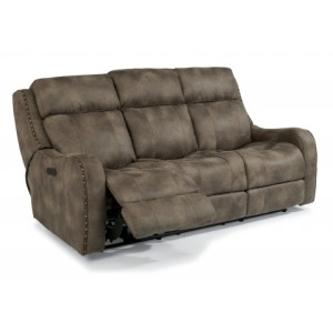 Springfield Fabric Power Reclining Sofa w/Power Headrests