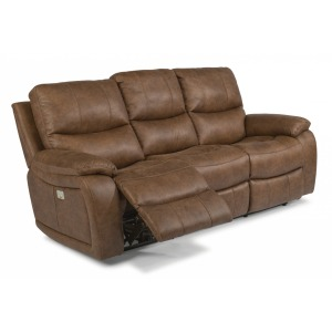 Hendrix Fabric Reclining Sofa w/Power Headrests