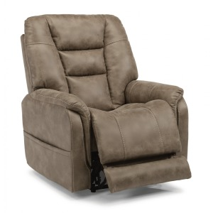 Theo Fabric Power Recliner W/ Power Headrest
