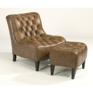 Winslet Leather Chair and Ottoman