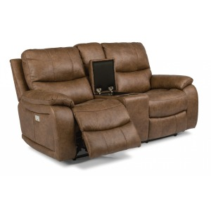 Fantastic Paisley Leather Power Reclining Sofa W Power Headrest By Machost Co Dining Chair Design Ideas Machostcouk