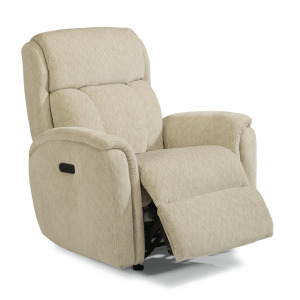 Fabric Power Recliner with Power Headrest