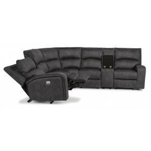Rhapsody 6 PC Fabric Power Reclining Sectional w/Power Headrests