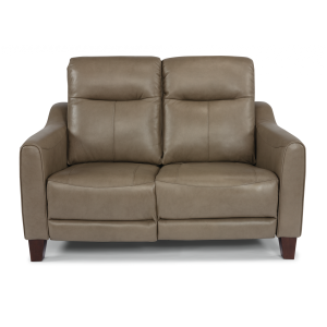 Forte Leather Power Reclining Loveseat w/Power Headrests