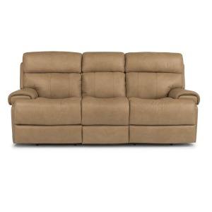 Leather Power Reclining Sofa