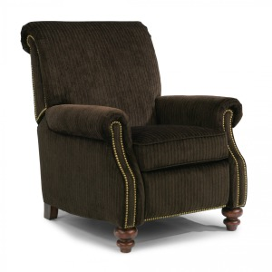 Bay Bridge Fabric Power High-Leg Recliner w/Nailhead Trim