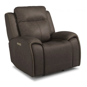Solo Leather Power Gliding Recliner w/Power Headrests