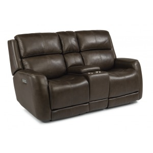 Zelda Power Reclining Loveseat w/Console & Power Headrests