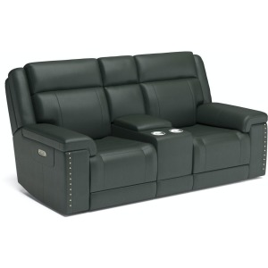 Yuma Power Reclining Loveseat with Console and Power Headrests