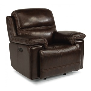 Leather Power Gliding Recliner w/ Power Headrest