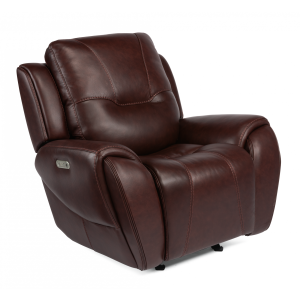 Trip Leather Power Gliding Recliner w/Power Headrests