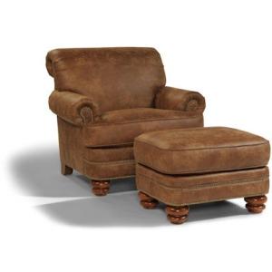 Bay Bridge NuvoLeather Chair & Ottoman