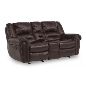 Town Gliding Reclining Loveseat w/Console