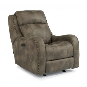 Springfield Fabric Power Gliding Recliner w/Power Headrest