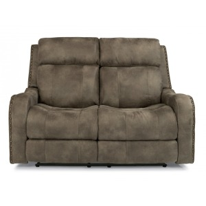 Springfield Fabric Power Reclining Loveseat w/Power Headrests