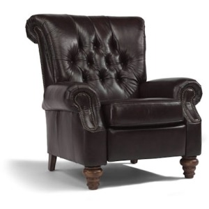 Equestrian Leather High Leg Recliner with nails