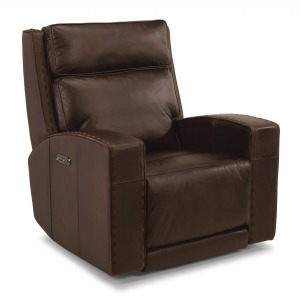 Archer Leather Power Gliding Recliner w/Power Headrests