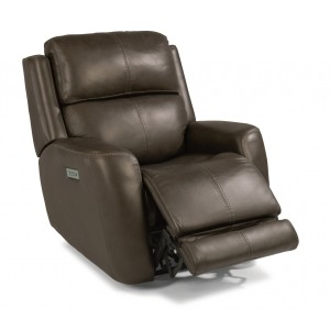 Zelda Leather Power Recliner w/Power Headrests