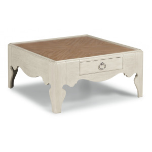 Miramar Square Scroll-Leg Coffee Table