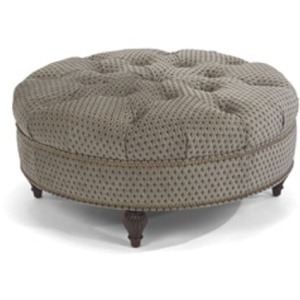 Martin Fabric Cocktail Ottoman with Nails