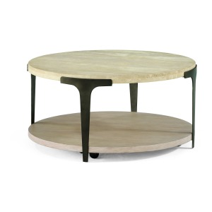 Omni Round Cocktail Table with Casters