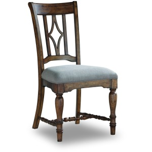 Plymouth Upholstered Dining Chair (Dark)