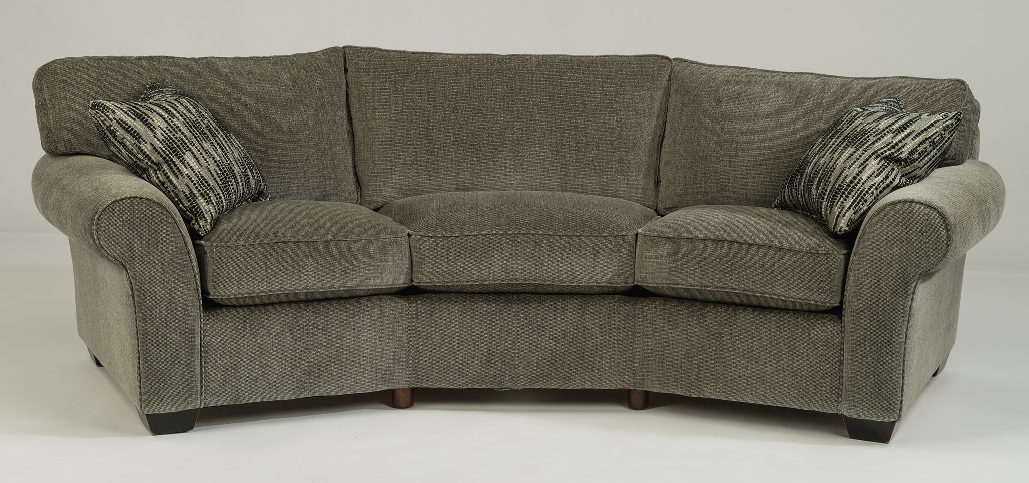 vail fabric conversation sofaflexsteel furniture