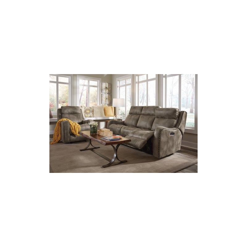 Marvelous Springfield Fabric Power Reclining Sofa W Power Headrests By Machost Co Dining Chair Design Ideas Machostcouk
