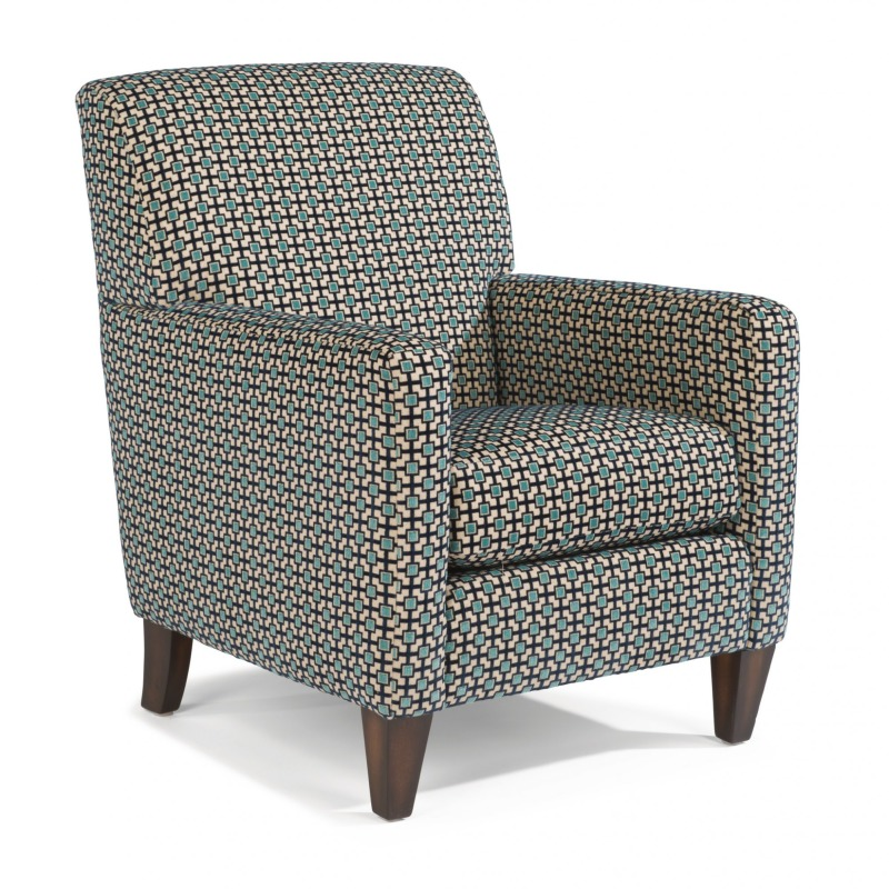 Sensational Cute Square Arm Fabric Chair By Flexsteel Furniture 0410 Theyellowbook Wood Chair Design Ideas Theyellowbookinfo