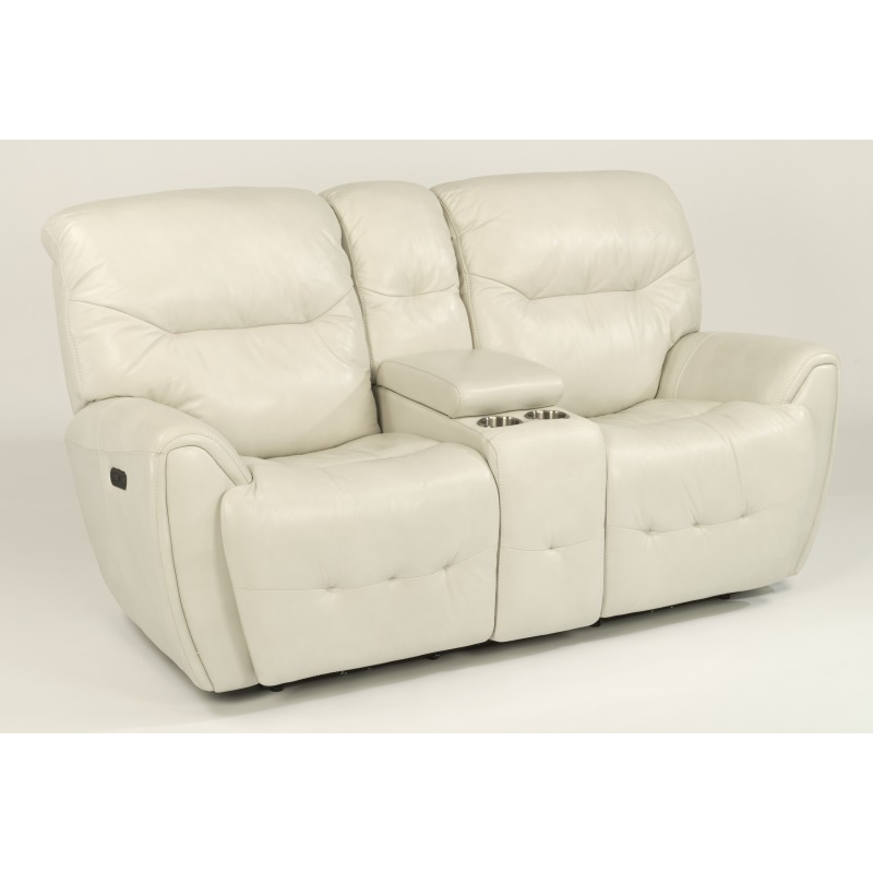 Superb Leather Power Reclining Loveseat With Console And Power Caraccident5 Cool Chair Designs And Ideas Caraccident5Info