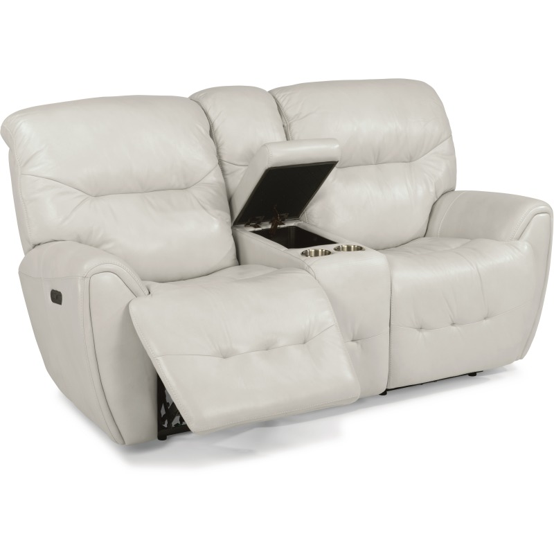 Tremendous Leather Power Reclining Loveseat With Console And Power Machost Co Dining Chair Design Ideas Machostcouk