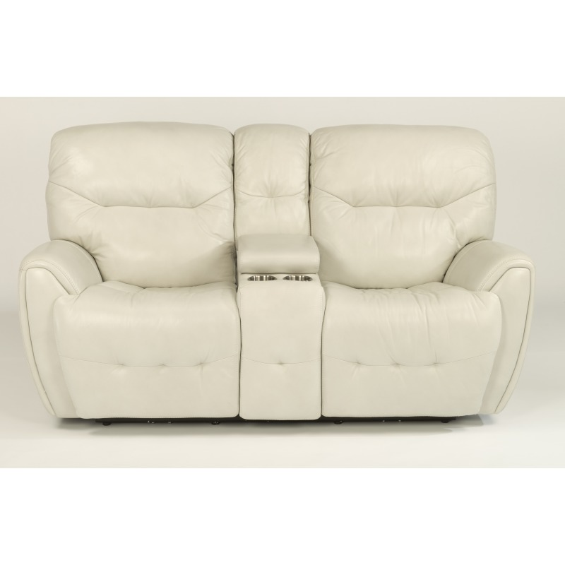 Fantastic Leather Power Reclining Loveseat With Console And Power Machost Co Dining Chair Design Ideas Machostcouk