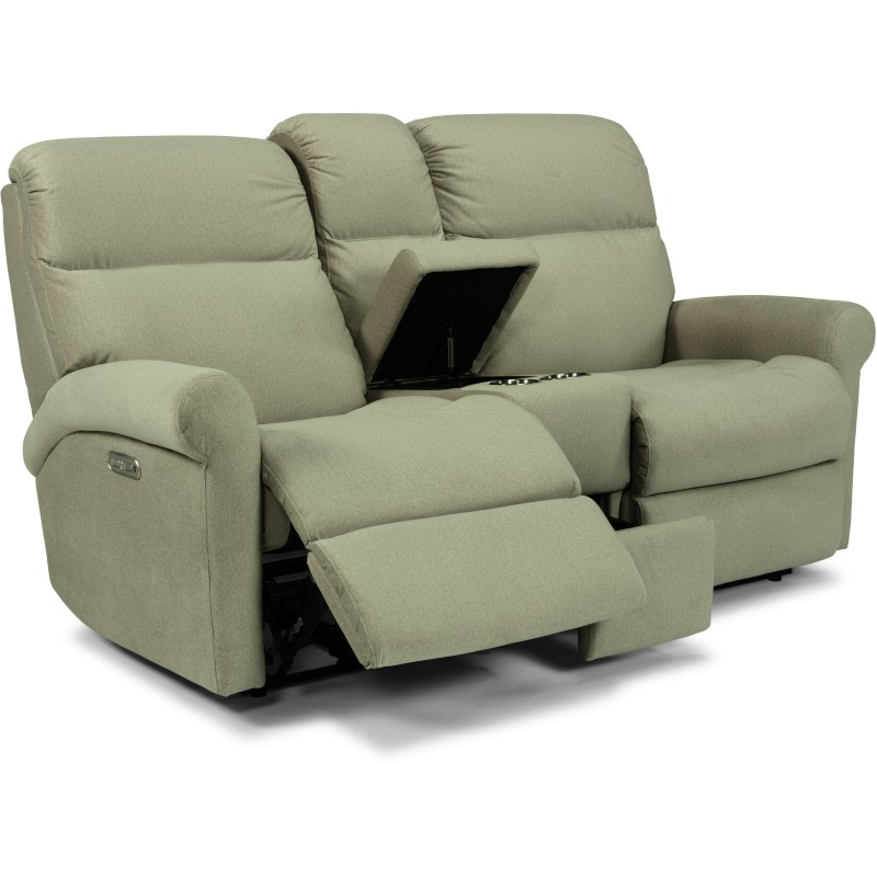 Davis Power Reclining Loveseat with Console and Power Headrests 2902-601H in 984-80
