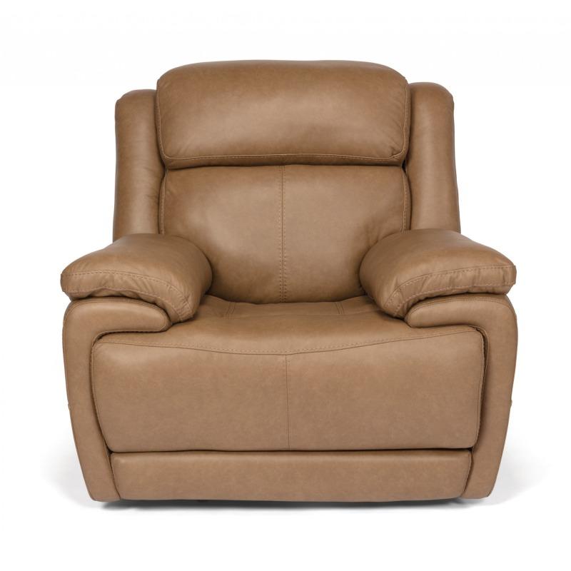 Astonishing Elijah Leather Power Recliner W Power Headrests By Flexsteel Machost Co Dining Chair Design Ideas Machostcouk