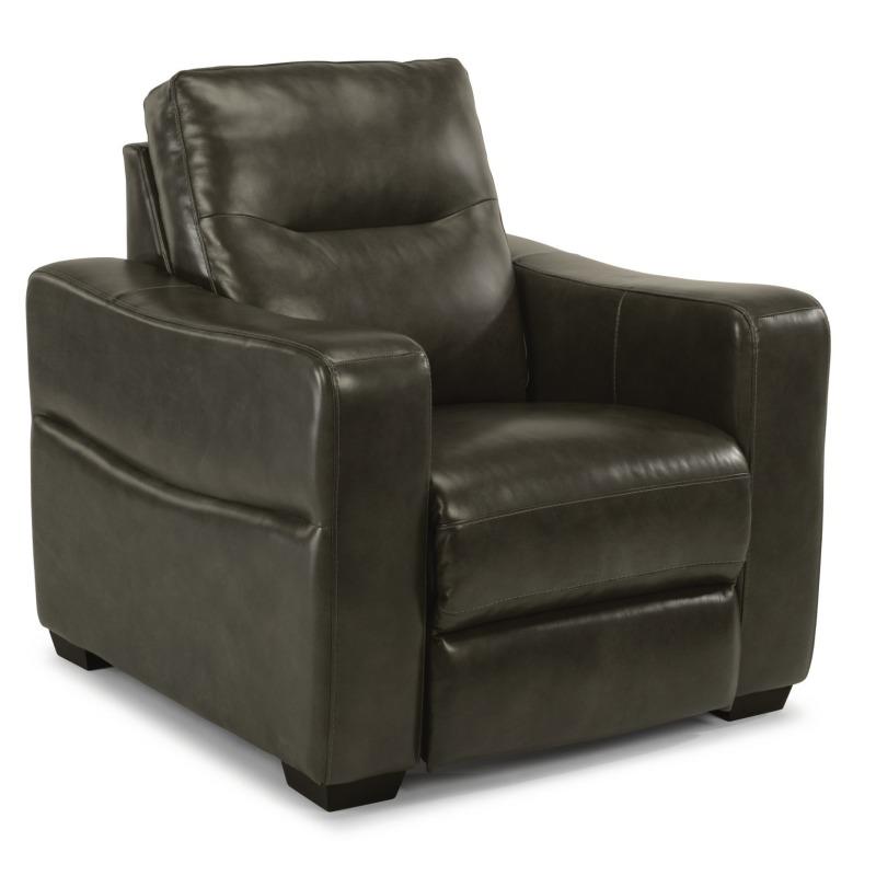 Swell Monet Leather Power Recliner W Power Headrest By Flexsteel Machost Co Dining Chair Design Ideas Machostcouk