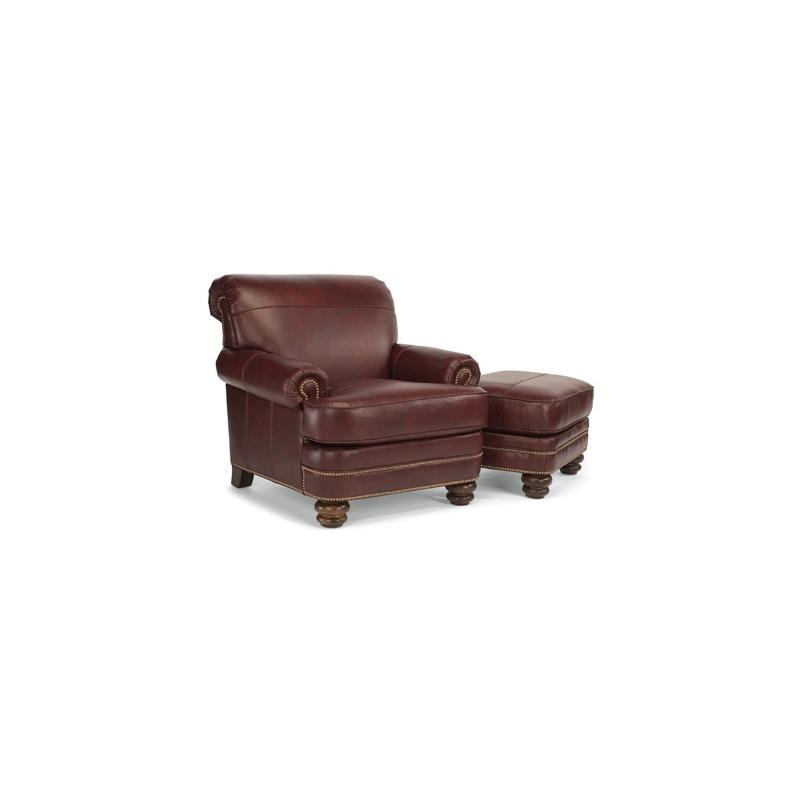 Bay Bridge Leather Chair & Ottoman