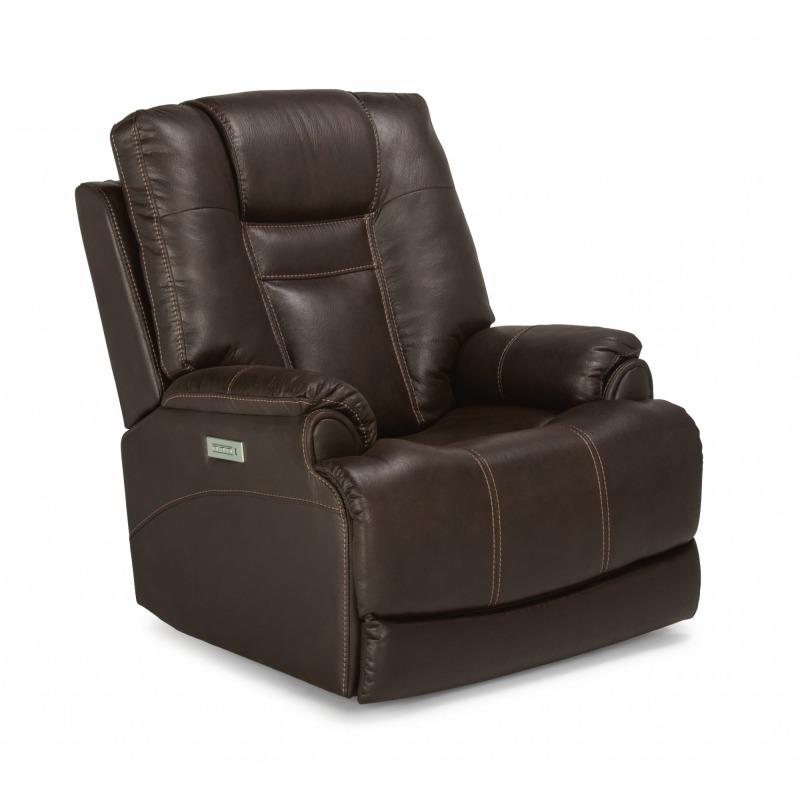 Stupendous Marley Fabric Power Recliner W Power Headrest By Flexsteel Machost Co Dining Chair Design Ideas Machostcouk