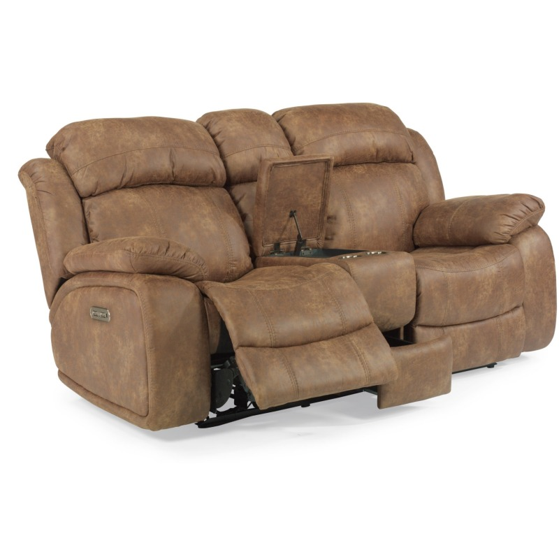 Fabulous Como Fabric Power Reclining Loveseat W Console Power Caraccident5 Cool Chair Designs And Ideas Caraccident5Info